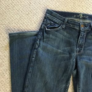 7 For All Mankind Jeans - 7 for all Mankind High Waist Distressed Bootcut Je